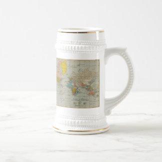 世界地図1910年 ビールジョッキ