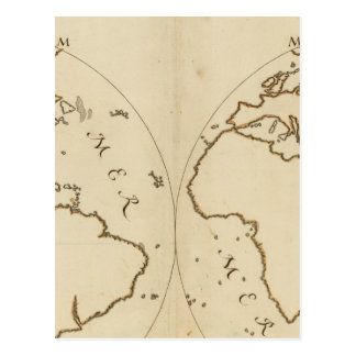 世界地図2 ポストカード
