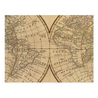 世界地図3 ポストカード