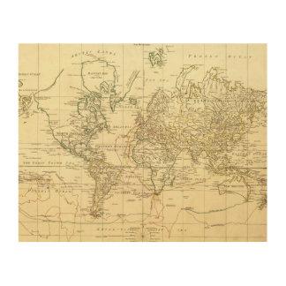 世界地図5 ウッドウォールアート