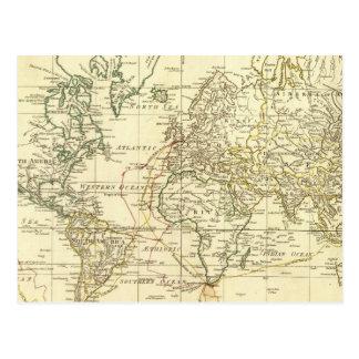 世界地図5 ポストカード
