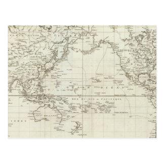 世界地図6 ポストカード