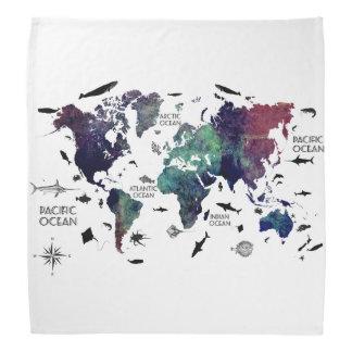 世界地図7 バンダナ