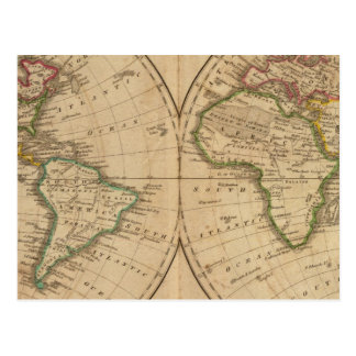 世界地図7 ポストカード