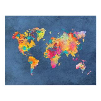 世界地図8 ポストカード
