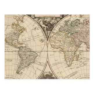 世界地図9 ポストカード