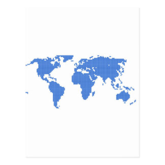 世界地図 はがき