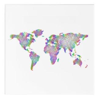 世界地図 アクリルウォールアート