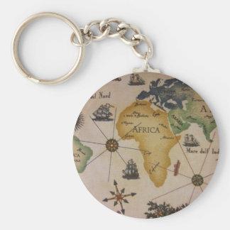 世界地図-アフリカ キーホルダー
