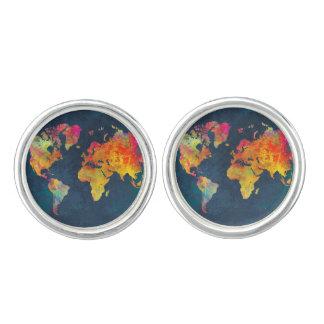世界地図 カフリンクス