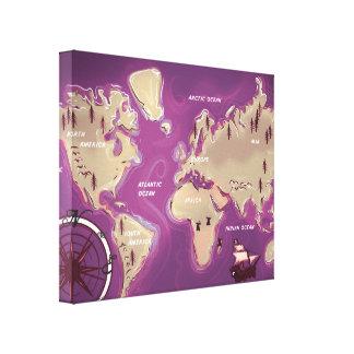 世界地図 キャンバスプリント
