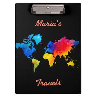 世界地図 クリップボード