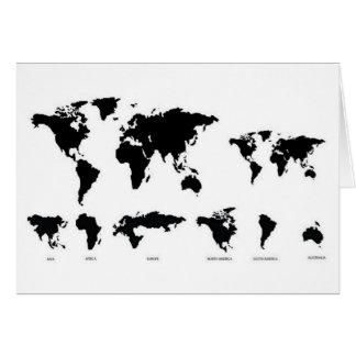 世界地図 グリーティングカード