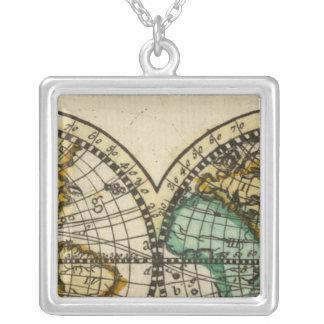 世界地図 シルバープレートネックレス