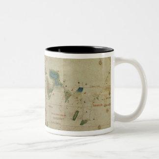 世界地図 ツートーンマグカップ