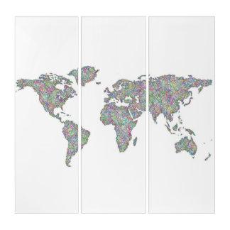 世界地図 トリプティカ