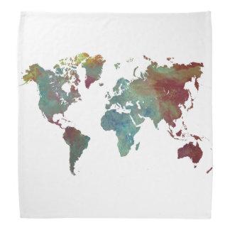 世界地図 バンダナ
