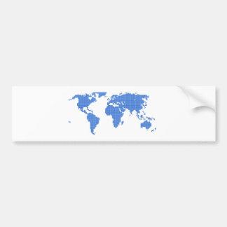 世界地図 バンパーステッカー