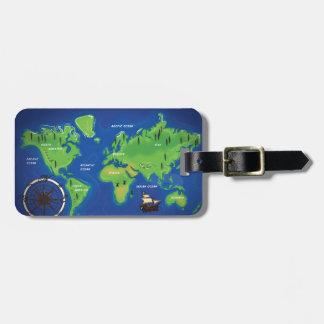 世界地図 ラゲッジタグ