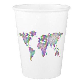 世界地図 紙コップ