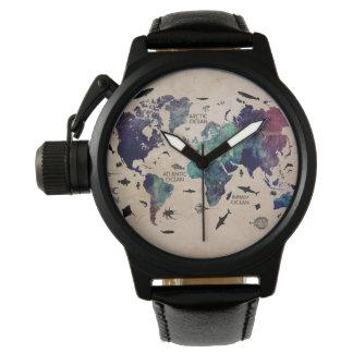 世界地図 腕時計