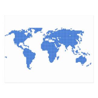 世界地図 葉書き
