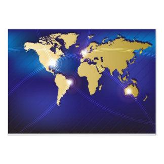 世界地図 12.7 X 17.8 インビテーションカード
