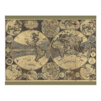 世界地図(1702年) はがき