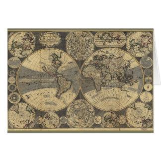 世界地図(1702年) グリーティングカード