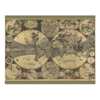 世界地図(1702年) ポストカード