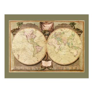 世界地図(1808年) ポストカード