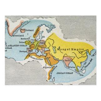 世界地図、c1300. ポストカード