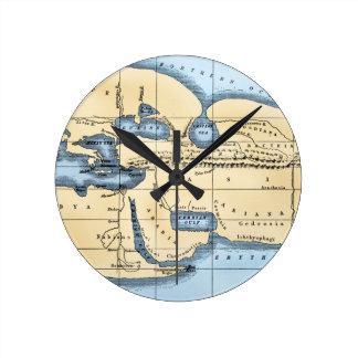 世界地図: ERATOSTHENES ラウンド壁時計