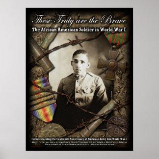 世界大戦1ポスターのアフリカ系アメリカ人の兵士 ポスター