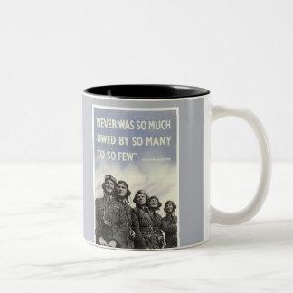 世界大戦2のChurchillのイギリスの引用文 ツートーンマグカップ