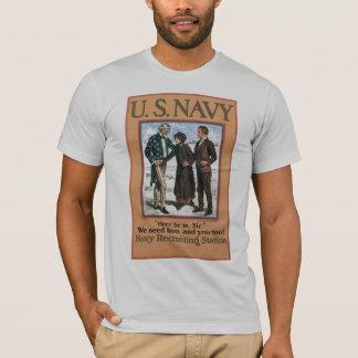 世界大戦2海軍募集 Tシャツ