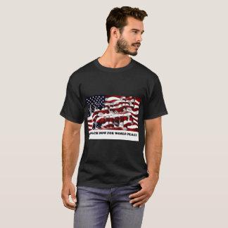 世界平和のために弾劾して下さい Tシャツ