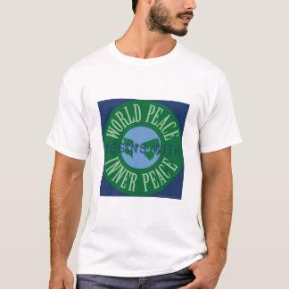 世界平和は内部の平和服装から始まります Tシャツ
