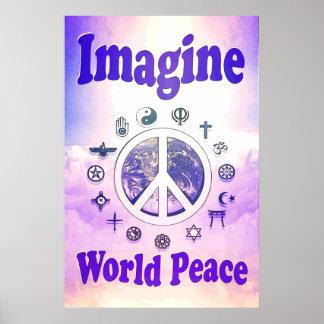 世界平和を想像して下さい ポスター