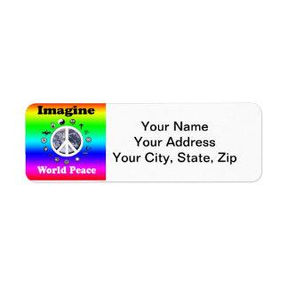世界平和を想像して下さい ラベル