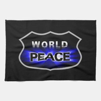 世界平和デザインの台所タオルの普及 キッチンタオル