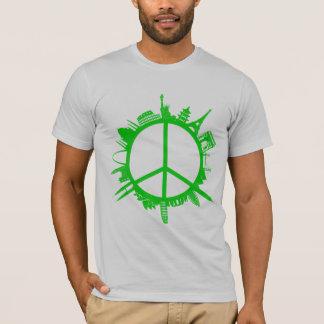 世界平和緑 Tシャツ