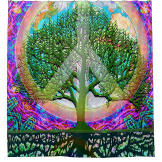 世界平和虹生命の樹 シャワーカーテン