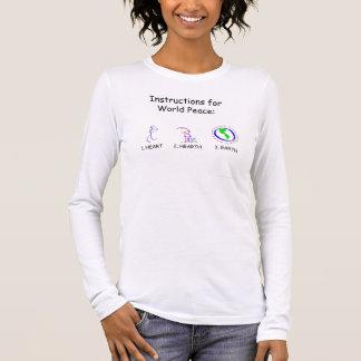 世界平和: 愛 長袖Tシャツ