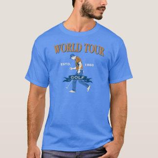 世界旅行のゴルフ Tシャツ