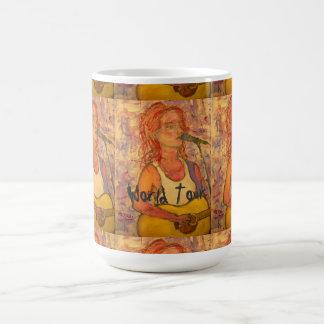 世界旅行の音響の女の子 コーヒーマグカップ