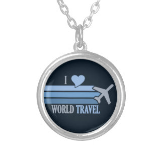 世界旅行ネックレス シルバープレートネックレス