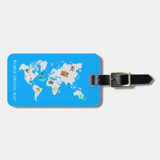 世界旅行地図の荷物のラベル ラゲッジタグ