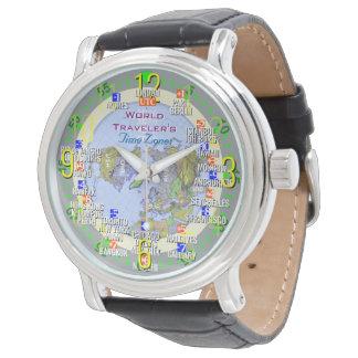 世界旅行者の時間帯 腕時計