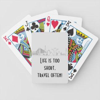 世界旅行者、世界記念碑、スカイライン、観光客 バイスクルトランプ